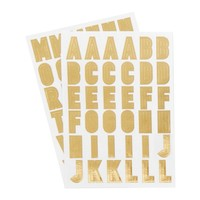 ALPHABET STICKERS 2PK: GOLD