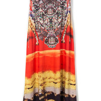 Bohemia Thailand Full-length Digital Print Skirt