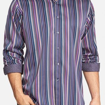 Men's Bugatchi Classic Fit Stripe Sport Shirt,