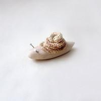 Snail ,wood carving, OOAK