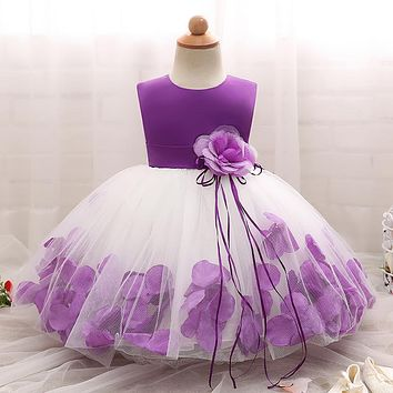 New Flower Girls Christmas Costume Events Party Wear Dresses For Girl Clothes Toddler Children's Girl Clothing Prom Gown