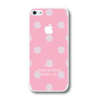 iPhone 5 Case, iPhone 5S Case - Sweet Pink / Gray Polka Dots / iPhone 5S Case, iPhone 5S Cover, Cover for iPhone 5S, Case for iPhone 5S