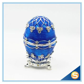 2016 New Faberge Egg Trinket Box Ring Holder Jewelry Box Egg Easter Gifts