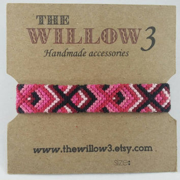 Shades of Pink Handmade Chevron Friendship Bracelet
