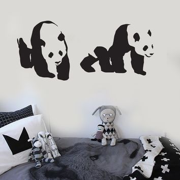 Vinyl Wall Decal Cute Animal Panda Kids Room Nursery Decoration Stickers Unique Gift (ig3031)