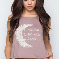 To The Moon Tank Top