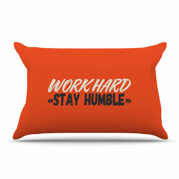"Juan Paolo ""Work Hard Stay Humble"" Digital Vintage Pillow Sham"