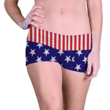 Outta Bounds Yoga Shorts Booty Shorts Custom Stars Stripes