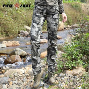Women Summer Camo Casual Pants Military Army Trousers Straight Cotton Pants Capris