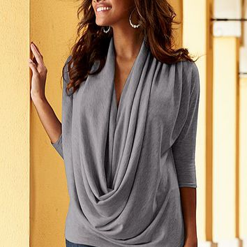Women's Draped front sweater by VENUS