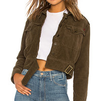 Free People Everlyn Jacket in Moss | REVOLVE