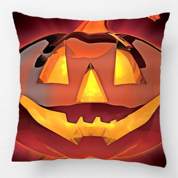 Halloween Pumpkin Accent Throw Pillow Case Decorative Cushion Cover Pillowcase Customize Gift By Lvsure For Car Sofa Seat