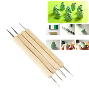 4Pcs Stylus Polymer Clay Pottery Ceramics Sculpting Modeling Tools