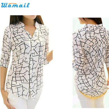 WOMAIL delicate hot polo shirts Women's Elegant shirt New Print Fashion Slim WW30