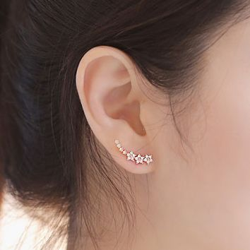 Stunning Zicron Stars Stud Earrings