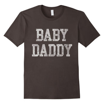 Men's Vintage Baby Daddy Funny Father Dad T Shirt