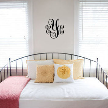 3 Letter Monogram Initials Wall Decal Sticker
