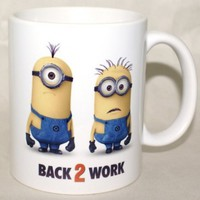 "Despicable Me 2 ""Back To Work"" Coffee Mug Funny Promotional Souvenir From DVD Blu-Ray Movie:Amazon:Kitchen & Dining"