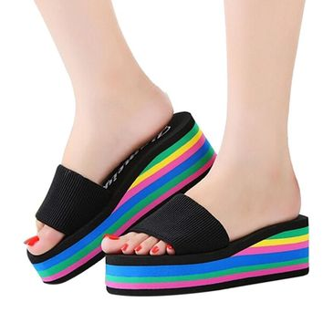Rainbow Summer Non-Slip Extra tall Sandals