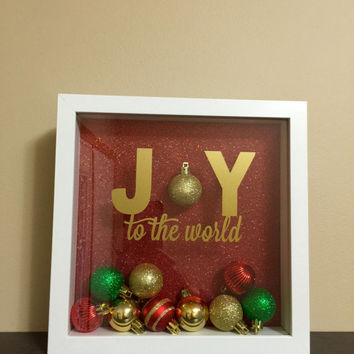 Joy to the World Ornament Shadowbox Christmas Art
