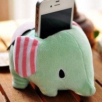 Elephant Plush Doll Mobile Phone Holder Home
