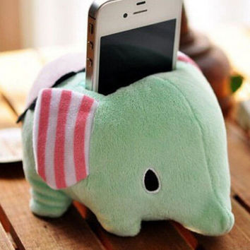Elephant Plush Doll Mobile Phone Holder Home Coffee