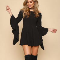 bewitched romper - black