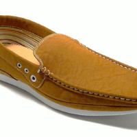 Mens Polar Fox Moccasin Slip On Casual Loafers Shoes 30186 Brown-362