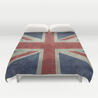 England's Union Jack (3:5 Version) National flag of the United Kingdom - Vintage retro version Duvet Cover by LonestarDesigns2020 - Flags Designs +