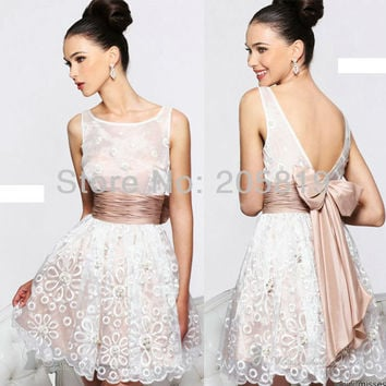 Aliexpress.com : Buy 2013 New Arrival Scoop Neckline Beading Lace Prom Cocktail Short Gown, IWD21144 from Reliable lace cocktail dress suppliers on iWeddingDressesShop