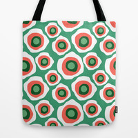 Fried Circles, Minty Yam Tote Bag by Raven Jumpo