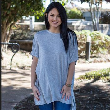 Ezra Tunic- Heather Gray