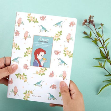 Anne of green gables stitching lined notebook
