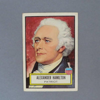 TOPPS Trading Card, Alexander Hamilton, Vintage Look 'n See Trading Card Number 19, Historical Trading Cards