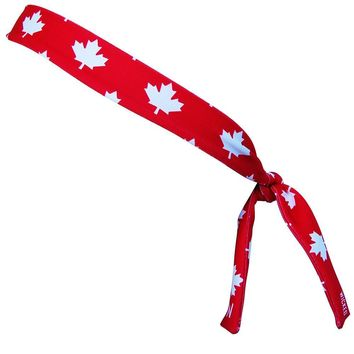Canada Maple Leafs Red Skinny Headband