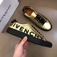 GIVENCHY Men Fashion Casual Gold Sneakers Sport Shoes