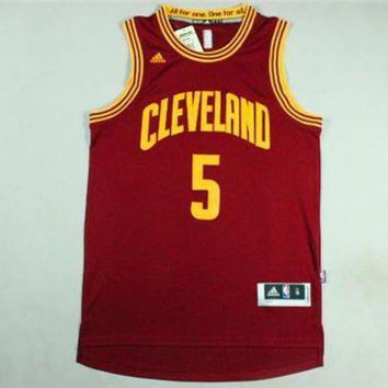 UCANUJ3V Smith Cleveland Cavaliers#5 Adidas Red Jersey