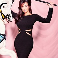 Kardashian Kollection Cut Out Bodycon Dress