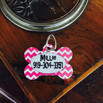 Chevron Aluminum Dog Tag