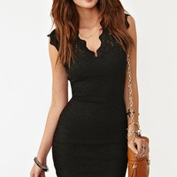 Lara Lace Dress - Black in Clothes at Nasty Gal