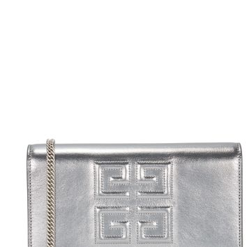 Logo-debossed leather cross-body bag