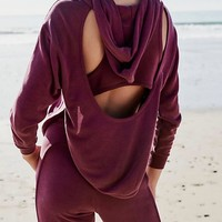 free people - back into it active sport hoodie