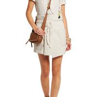 Bird quilted cotton wrap mini skirt | Isabel Marant | US | THE OUTNET
