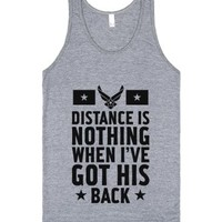 I've Got His Back (Air Force)-Unisex Athletic Grey Tank