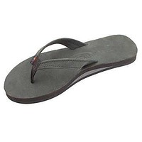 Women's Catalina Tapered Strap Premier Leather Sandal in Black by Rainbow Sandals