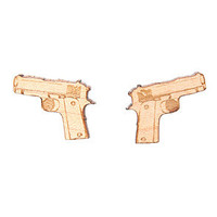 GoodWood Earrings The Baretta Stud Earrings in Natural.