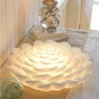White Lotus Flower Lamp | Home Accents