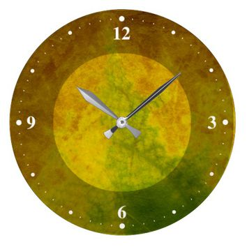 Leaf Nature Large Clock