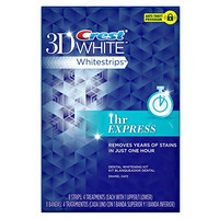 Crest 3d White 1-Hour Express Teeth Whitening Kit 8 Strips - 4 Treatments