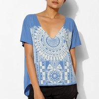 Project Social T Bleached Deep-V Tee - Urban Outfitters
